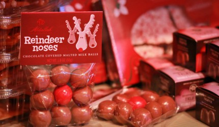 reindeer noses chocolate christmas candy gift