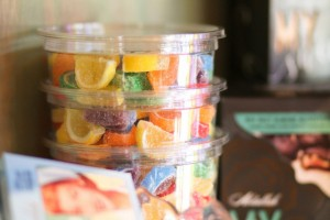 mini rainbow fruit slices